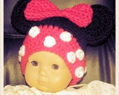 Minnie Mouse Inspired Doll Hat Free Shipping in US