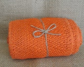 Orange Burlap Ribbon