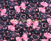 C036 - 1 meter Cotton Fabric - Bow hear and star (135cm width)