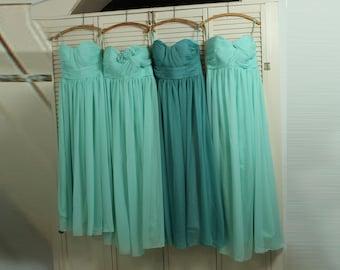 2017 Bridesmaid dress, Teal Mix and Match Prom dress, Dusty Shale Wedding dress, Mint Long Chiffon Formal dress (B001/B010/B013)