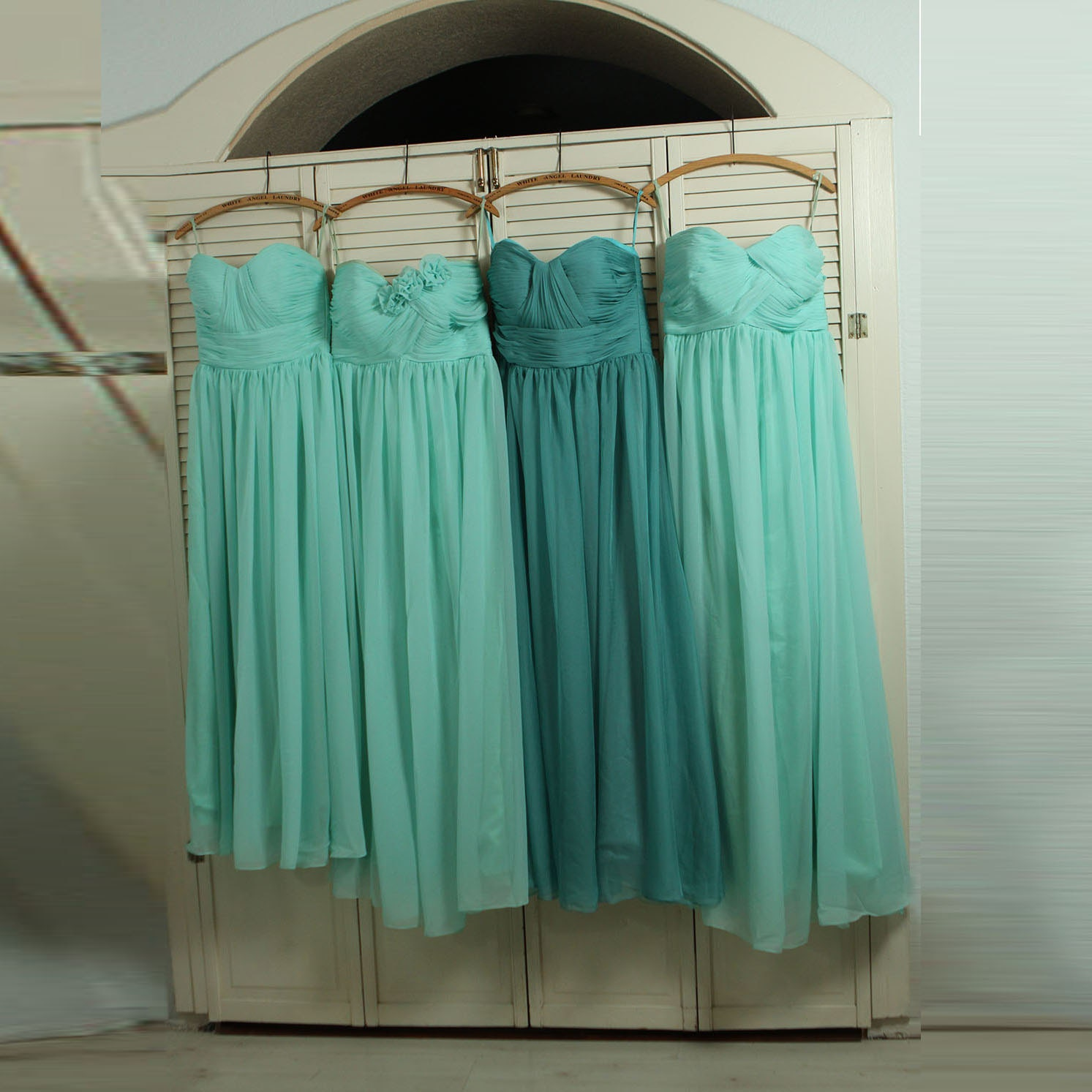 2017 Bridesmaid Dress Teal Mix and Match Prom Dress Dusty
