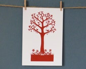 Greeting Card taken from 'Love Tree' paper cut by Loula Belle At Home