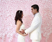 Custom Design - Wedding Ceremony Backdrop, Lace Felt Garland, Photography Back drop, wedding decor, curtain, modern home decor, nursery deco