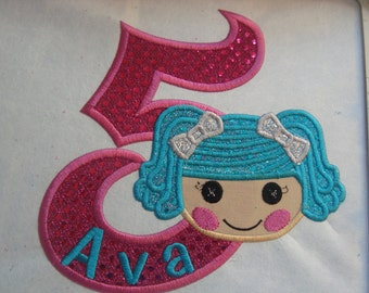 LALA Doll Birthday  or Shirt  Iron on patch