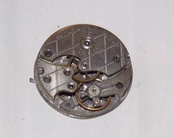 Antique 29mm Jeweled Pocket Watch Movement