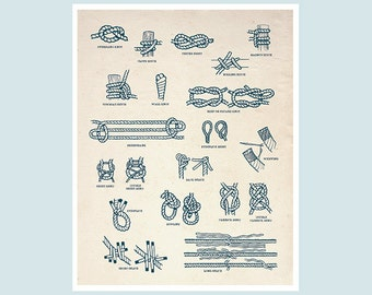 Nautical knots and splices chart