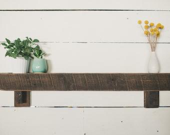 Modern Rustic Barn Board Shelf or Mantle