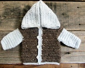 Ready To Ship**Baby Boy Crochet Jacket Sweater Size 6-9 months