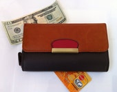 Vegan Leather Wallet - Womens Wallet - Change Purse - Cheque Book Cover