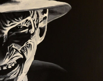 "Freddy Krueger - Nightmare on Elm Street - Art Print Reproduction 10"" x 12"""