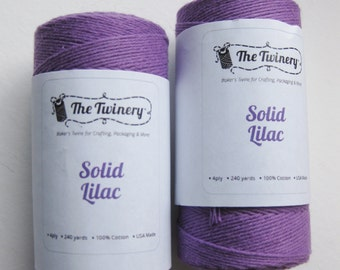 50 Yards of SOLID LILAC - Lilac Purple Bakers Twine