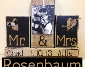 Wedding gift, wedding gift ideas, custom name, Mr and Mrs, custom wood sign, anniversary gift, bridal shower gift, Wedding gift for couple