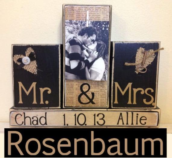 Wedding Gifts Mr And Mrs: Wedding Gift Wedding Gift Ideas Custom Name Mr And Mrs