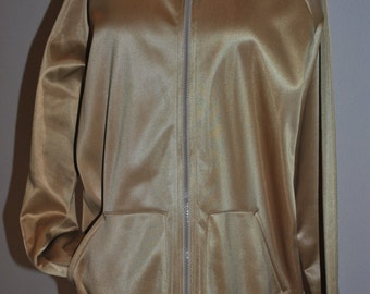 Vintage Gold Jacket The Oscar Goes To  Large Extra Large Outerwear Seventies Collar