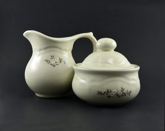 Pfaltzgraff Heirloom Sugar Bowl and Creamer