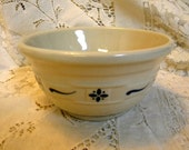 Longaberger  small mixing bowl  in blue 1991 Roseville signed and dated