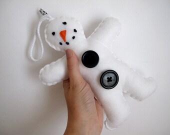 Giant Snowman // White Handmade Felt Plush Decoration // Ready to Ship