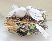 Simple Anthropologie Inspired Rustic Love Bird Wedding Cake Topper