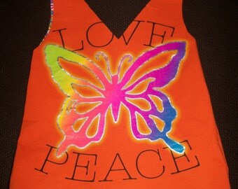 Love Peace Butterfly T-Shirt Bag