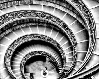 Cross Stitch Pattern - Spiral Staircase  - PDF -  Instant Digital Download
