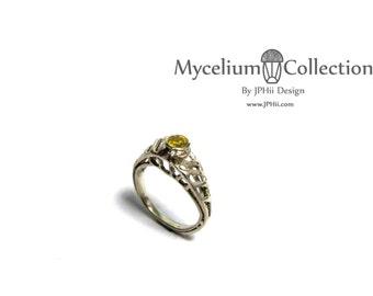 Topaz Mycelium Ring