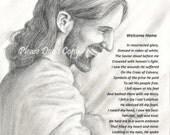 8X10 Print Jesus Christ Welcomes Us Home