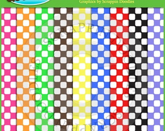 White Squares on Colored Backgrounds
