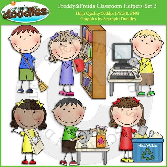 Freddy & Freida Classroom Helpers Set 3 Clip Art (570 x 570 Pixel)