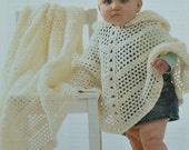 C3343 Crochet Pattern Babies Poncho and Shawl DK or 4ply (Light Worsted/Fingering) King Cole
