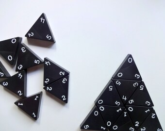 Vintage Tri-Ominos The Triangle Game 1968