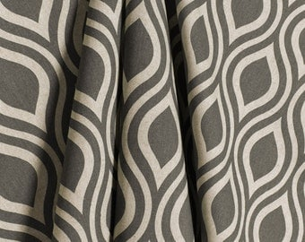Gray Natural Laken Geometric Curtains Nicole  Rod Rocket  63 72 84 90 96 108 120 Long x 25 or 50 Wide