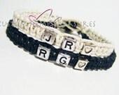 Boyfriend Girlfriend Bracelets, Personalized Initials Bracelets, Couples Gift, Boyfriend Gift, Girlfreind Gift, Initial Jewelry