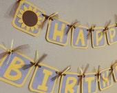 SUNFLOWER Birthday Banner