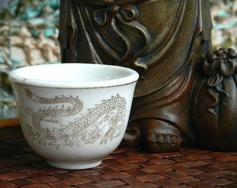 Golden Dragon Teacup Asian Vintage