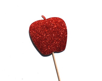 Photo Booth Props - Glitter Apple - GLITTER Props - Birthdays, Weddings, Parties - Photobooth Props