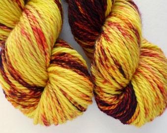 Bulky Yarn - Hand Dyed Superwash Merino Wool in Serengeti Sunset Colorway