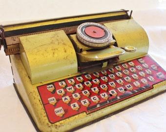 Vintage Tin Toy Berwin Superior Children's Typewriter