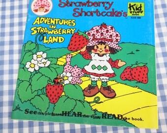strawberry shortcake's adventures in strawberry land, vintage 1982 children's book