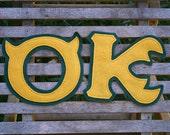 Oozma Kappa Greek Letters - Iron On or Sew On