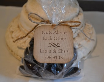 Nuts About Each Other - wedding favor tag - customizable