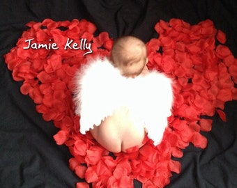 SALE! Baby Toddler Angel Wings Soft, Beautiful Costume, Cosplay Professional Photo Prop Wedding Flower Girl Baby Shower FREE halo