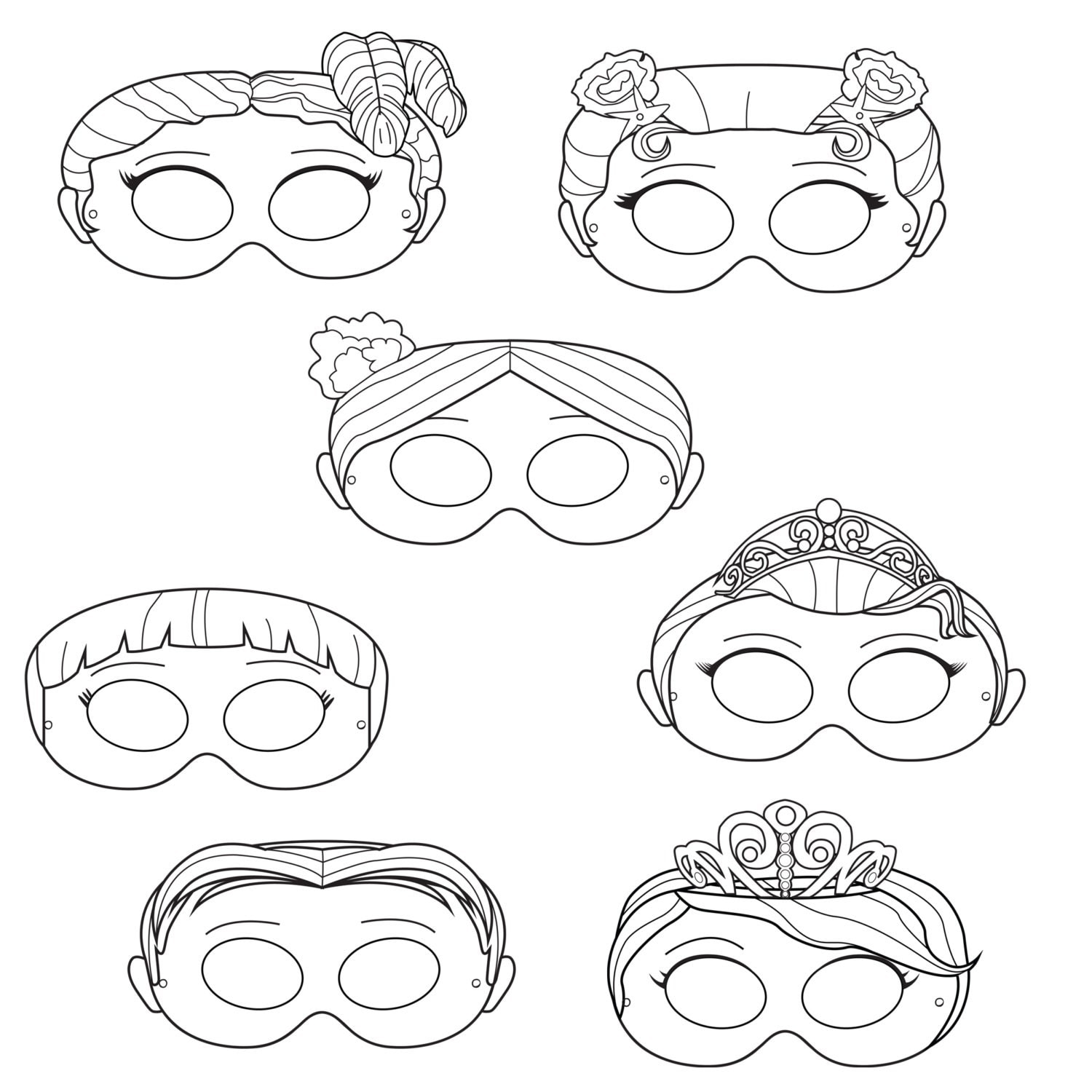 Impertinent image intended for mask printable
