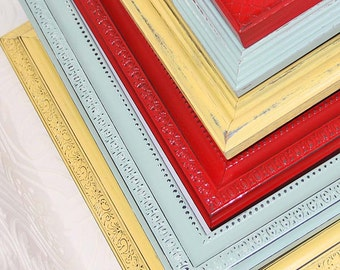 Painted Frame One 5x7 Shabby Chic Vintage Hand Painted Distressed Frame Made to Order