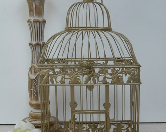 Large Champagne Gold Wedding Birdcage Card Holder / Wedding Card Box / DIY Wedding / Wedding Supplies / Home Decor