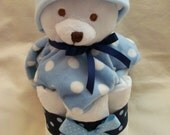 Baby  Boy Diaper Mini Cake - an adorable baby shower gift, made to order