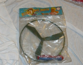 Vintage Mid Century FLYING SAUCER Toy Mint In Package Space Toy