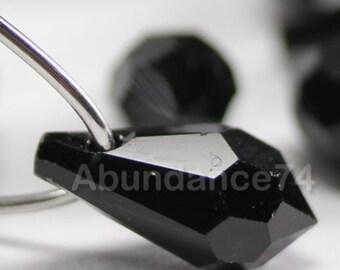 2pcs Swarovski Crystal 6000 22mm Teardrop Pendant Jet - Black