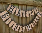 Barn Wood Look Birthday Banner - Rustic Birthday Decor - Cowboy Brthday - Rustic Barn Party Decor- Cigar Bar - Vapes Bar Decor