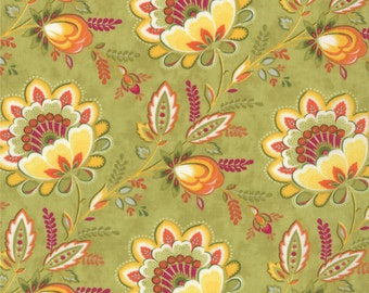 High Street Fabric Collection - Floral Brigitte 11470-15 by Lily Ashbury for Moda Fabrics - 1 Yard