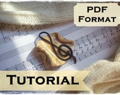 Polymer Clay Tutorial - How To Make You Own Melodic Brooch With Music Sheet - PDF Format